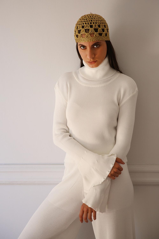 fluid bell blouse Nima