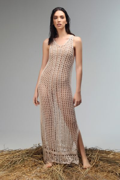 dress knitted long Nima liminal ss 21 collection