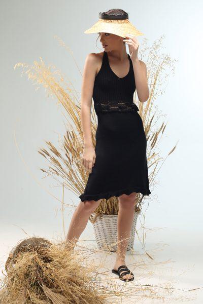 summy short knitted dress Nima liminal ss21