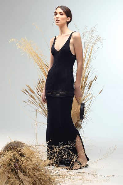 summy line long knitted dress Nima liminal ss21 collection