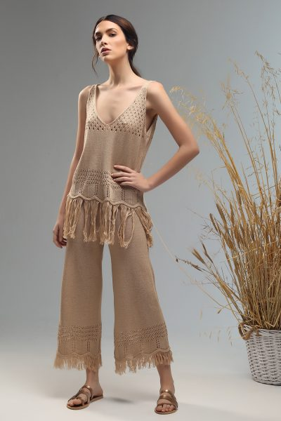 tassie boho pants with fringes trousers Nima liminal ss 21 collection