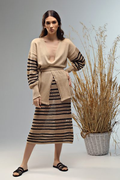 cardigan dobly knitted ss 21 Nima liminal collection