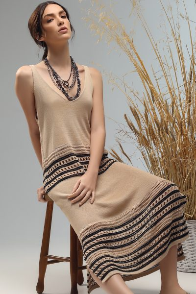 dobly long sleeveless knitted dress from Nima liminal ss21 collection