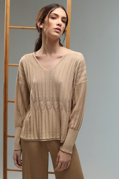 maira knitted blouse Nima liminal ss 21 collection