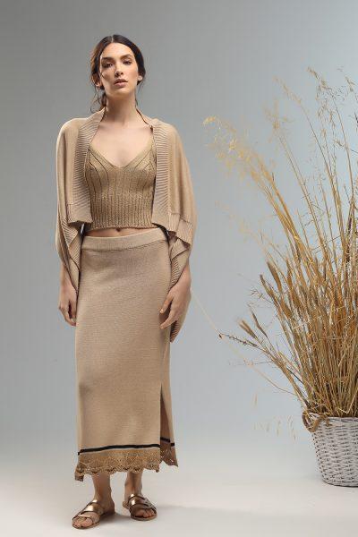 lyn crop top knitted Nima