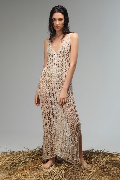 sesy v neck knitted dress ss 21 collection Nima