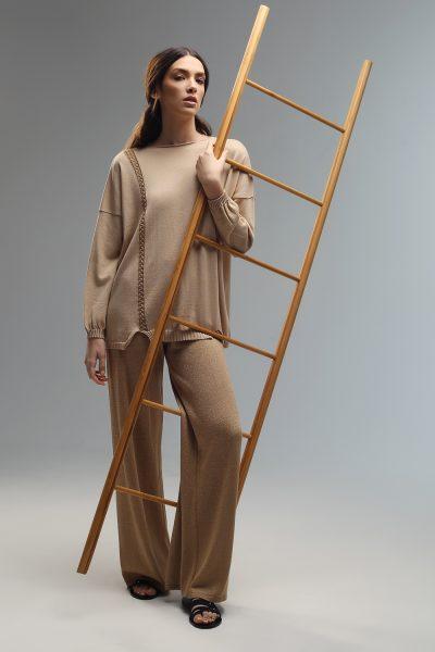 bridget long sleeve knitted blouse ss21 Nima