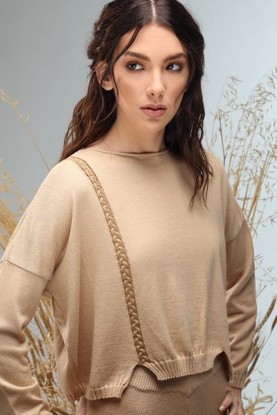 short long sleeve knitted blouse Nima ss 21